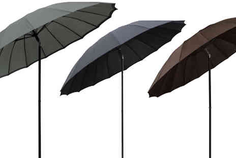 XS Stock - 2.5m Tilting Parasol and Optional Base Choose 4 Colours - Save 49%