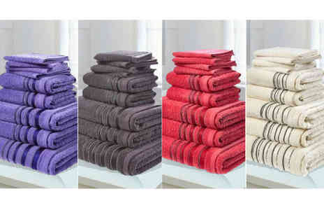 Groundlevel - Luxury 500 gsm Egyptian cotton towel bales choose from seven colours - Save 88%