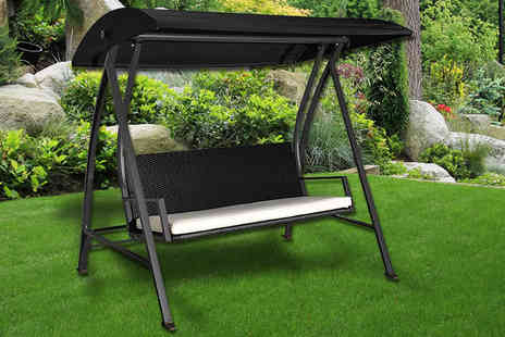 Mhstar - Four seater garden swing seat - Save 54%