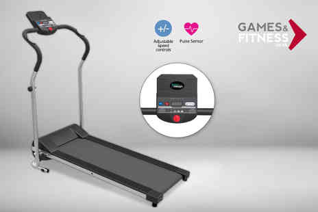 Games & Fitness - 500W folding home treadmill - Save 50%