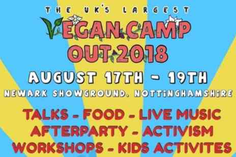 Vegan Camp Out 2018 - Weekend tickets to Vegan Camp Out 2018 for one or two adults, one child or a family of four on 17 To 19 August - Save 38%