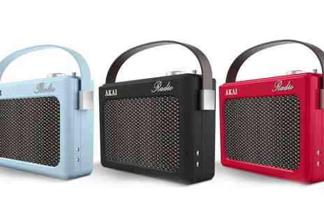 Groupon Goods Global GmbH - Akai Retro Style DAB Radio - Save 0%