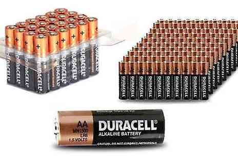 Mspackaging - Duracell AA or AAA Batteries Choose Pack of 12, 24, 40, 48 or 60 - Save 56%