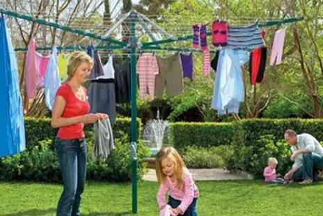 Groupon Goods Global GmbH - One or Two Four Arm 50m Rotary Outdoor Washing Line Airer with Spike and Cover Sets - Save 55%