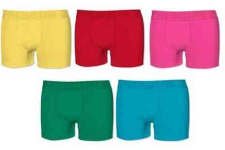 Groupon Goods Global GmbH - Five Pairs of Freegun Boxers - Save 0%