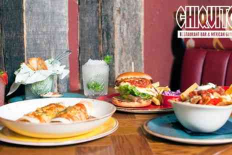 Chiquito - Two Course Meal with Two Drinks Each for Up to Four - Save 49%
