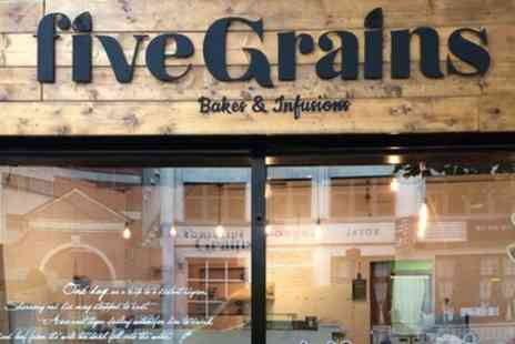 Five Grains - Two Course Lebanese Lunch with Infusion Tea for One or Two - Save 25%