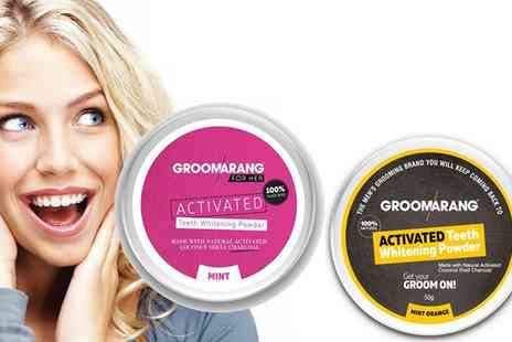 Groupon Goods Global GmbH - Up to Four Activated Teeth Whitening Powder Jars - Save 0%