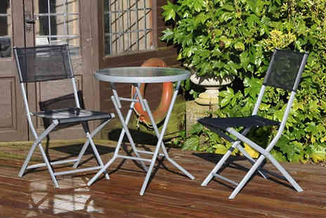 Home Season - 3 Piece Folding Bistro Patio Set - Save 50%