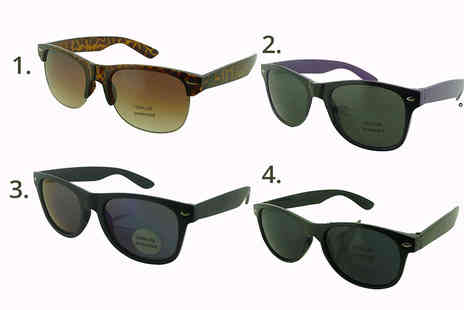 Direct E Trade - Two pairs of sunglasses choose between Clubmaster, Wayfarer and Sport styles - Save 87%