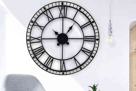 Funky Buys - Extra large cast iron effect roman numeral clock - Save 72%