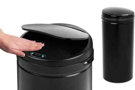 Groupon Goods Global GmbH - Russell Hobbs BW04610 Round Hands Free Motion Sensor Kitchen Bin, 40 Litre, Black - Save 59%