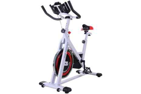 Groupon Goods Global GmbH - HomCom Exercise Spin Bike With Free Delivery - Save 0%