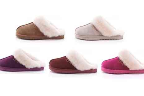 Groupon Goods Global GmbH - Womens Sheepskin Slippers - Save 72%