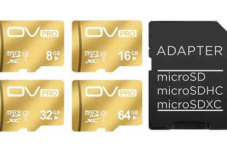 Groupon Goods Global GmbH - Aquarius Gold-Coloured Micro SD Card - Save 0%