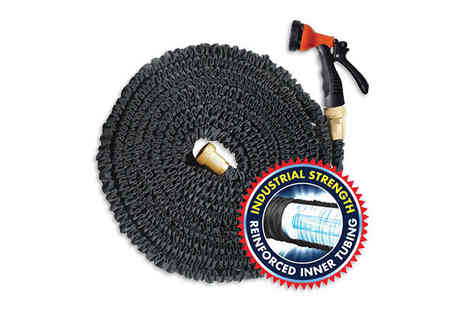Direct 2 public - Five in One Expandable Hose And Spray Nozzle Choose  50ft, 75ft, 100ft or 150ft - Save 60%