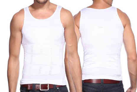 Best mall ever - Mens Compression Vest Choose Two Colours, Five Sizes - Save 72%