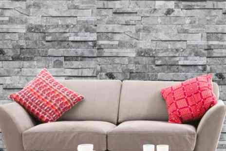 Groupon Goods Global GmbH - Up to Four Rolls Natural or Straight Design Brick Effect Wallpapers - Save 0%