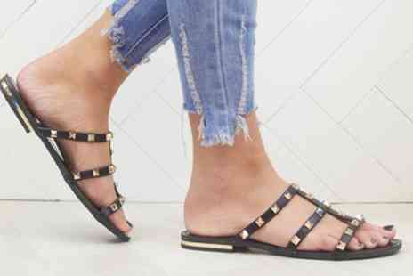 Groupon Goods Global GmbH - Studded Mule Sandals in Choice of Colour - Save 0%