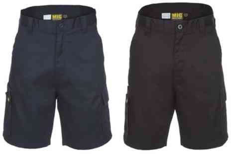 Groupon Goods Global GmbH - Black or Navy Mens Cargo Work Shorts - Save 0%