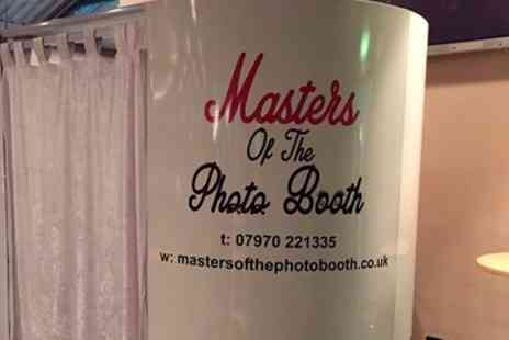 Masters of the photo booth - Three Hour Photobooth Hire With Unlimited Prints and Usb Stick - Save 43%