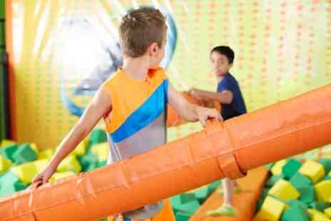 Bizzy Bouncers - Two Hour Soft Play Access with a Slice of Pizza and Drink for Two or Four Kids - Save 0%