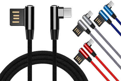 Some More - Dual compatible 8 pin lightning or Micro USB charging cable choose from four colours - Save 80%