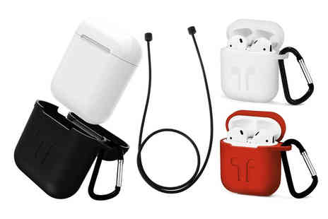 Some More - Apple AirPod compatible charging case with carabiner and rope choose from three colours - Save 80%