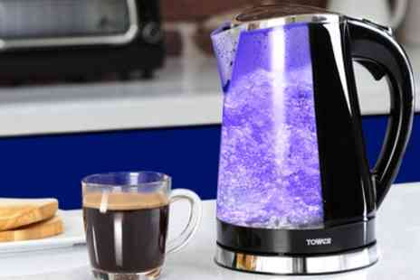 Groupon Goods Global GmbH - Tower T10012 2200W LED Colour Changing Kettle - Save 50%