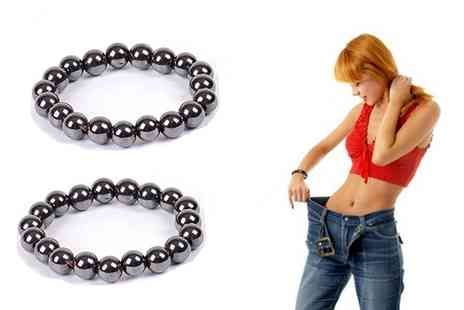 Groupon Goods Global GmbH - One, Two or Three Black Hematite Magnetic Bracelets - Save 0%