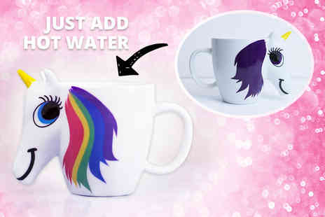 Cheeky Box - Colour changing unicorn mug - Save 60%