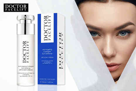 Doctor Facelift - Anti ageing sun defense SPF15 day cream - Save 87%