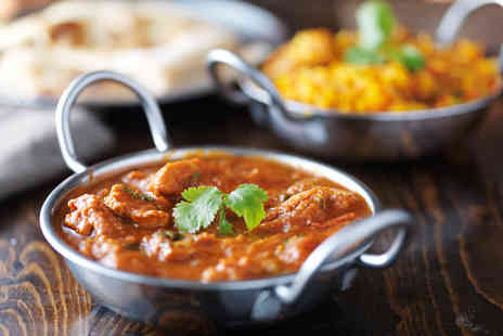 Bombay Brasserie - Indian dining for two people including a main course each, naan bread, papadom and chutney - Save 45%
