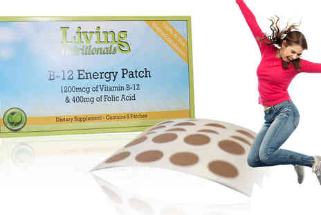 Seated Toad - 1, 2 or 3 Packs of B12 Energy Patches - Save 74%