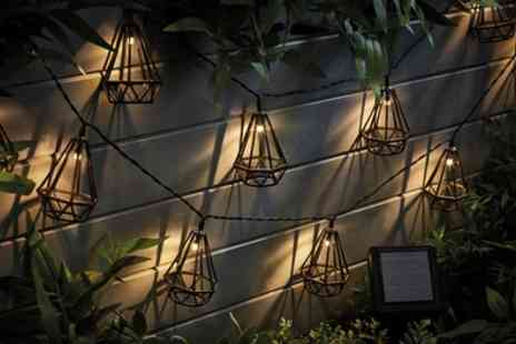 Groupon Goods Global GmbH - One, Two or Four Sets of Solar Led Bulb Cage String Lights - Save 60%