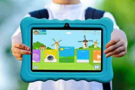 Groupon Goods Global GmbH - Kocaso 7 Inch Quad Core 8GB Kids Tablet with Shock Resistant Case With Free Delivery - Save 0%