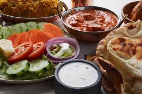 Taj Mahal - Two Course Indian Meal with Rice or Naan and Glass of Wine for Two, Four or Six - Save 41%