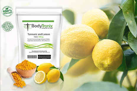 BodyTronix - Four month supply of turmeric and lemon tablets - Save 69%