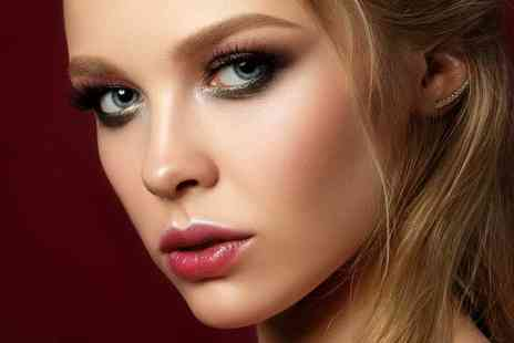 Luxe Hair, Nails & Beauty - Full set of cluster eyelash extensions with an eyebrow tint and shape - Save 56%