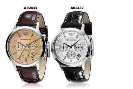 Class Watches - Emporio Armani mens watch choose from two styles - Save 66%