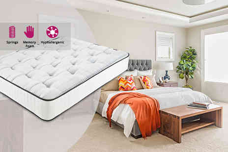 Giomani Designs - Double 1500 pocket spring memory foam mattress King size mattress - Save 85%