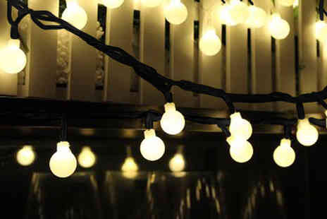 Gilded Olive - String of solar powered string lights - Save 69%