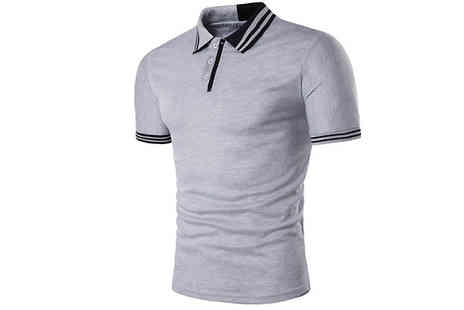 Blu Apparel - Mens Fitted Polo Tshirt Choose 3 Colours - Save 60%