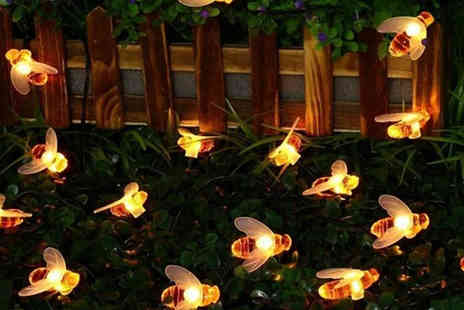 Best mall ever - Honey Bee Outdoor Solar Powered String Lights Choose 30 Leds - Save 74%