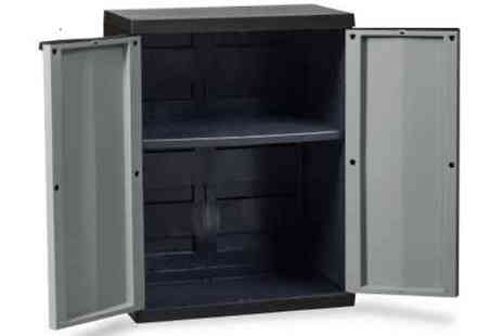 Home Season - Outdoor Garden Cabinet with Movable Shelf - Save 50%