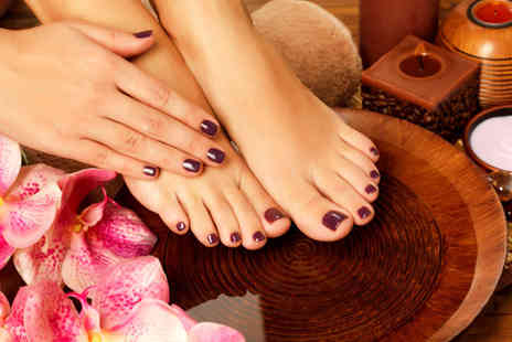Trendz Hair & Beauty - Gel manicure or pedicure or both - Save 45%