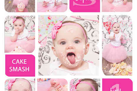 Michelle Malone Photography - Cake smash photoshoot with collage print - Save 94%