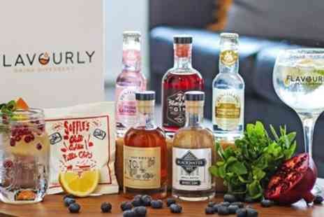 Flavourly - Craft gin hamper with mixers & snack, including P&P - Save 46%