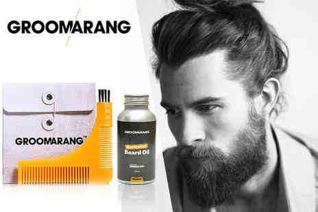 Forever Cosmetics - Groomarang beard comb & oil from Forever Cosmetics - Save 82%