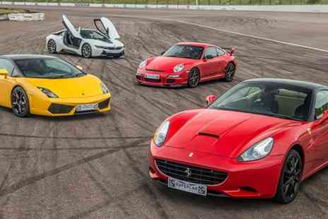 Buyagift - Four car supercar driving experience including a high speed passenger lap - Save 0%